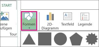Schaltfläche 'Form' auf der Power Map-Registerkarte 'Start'