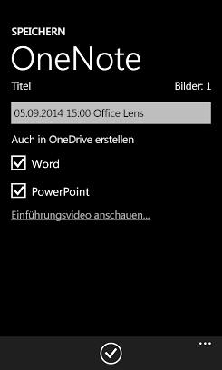 Senden von Bildern an Word und PowerPoint über OneDrive