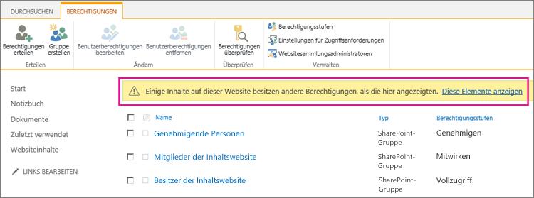 Statusleiste in einer Dokumentbibliothek, nachdem ein Element eindeutig gesichert wurde.