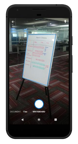 Scannen eines Whiteboard in Outlook Mobile
