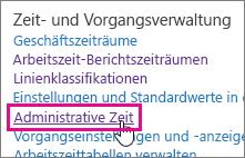 Administrative Zeit