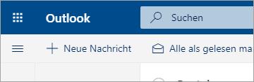 Screenshot der neuen E-Mail-Oberfläche