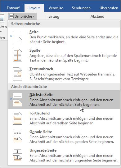 Späteres Beginnen Mit Der Seitennummerierung In Ihrem Dokument Word