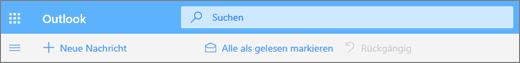 Screenshot des Suchabfragefelds in Outlook.com