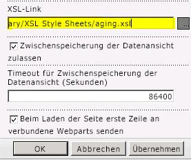 Eingefügte XSL-Dateiverknüpfung