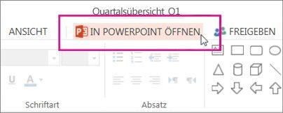 In der PowerPoint-Desktopanwendung öffnen
