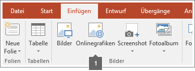 Screenshot, der zeigt, wie Onlinebilder in Office-Apps hinzugefügt werden