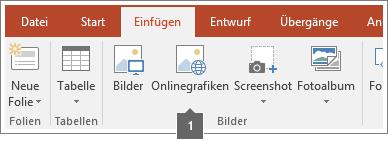 Screenshot, der zeigt, wie Onlinebilder in Office-Apps hinzugefügt werden