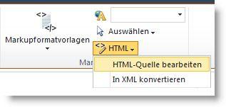 Befehl 'HTML-Quelle bearbeiten'