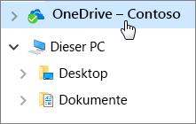 """Mitarbeiter – Schnellstart: """"Desktop"""", """"Dokumente"""" und OneDrive"""