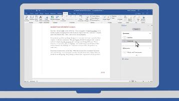 Bild eines auf einem Computer geöffneten Word-Dokuments