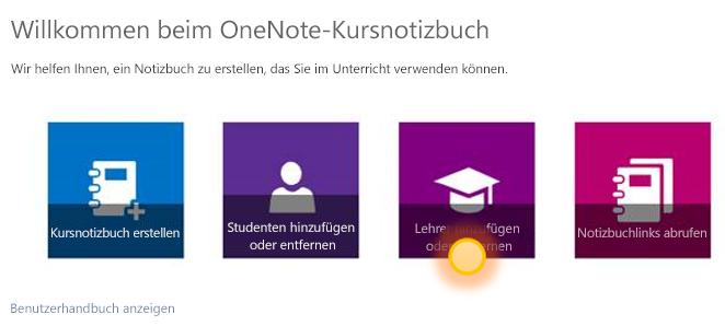 Screenshot zum Hinzufügen oder Entfernen eines weiteren Lehrers