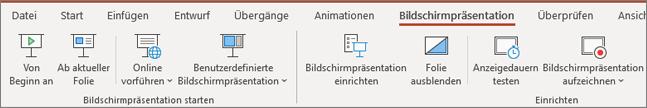 Office 365 PowerPoint – Bildschirmpräsentation