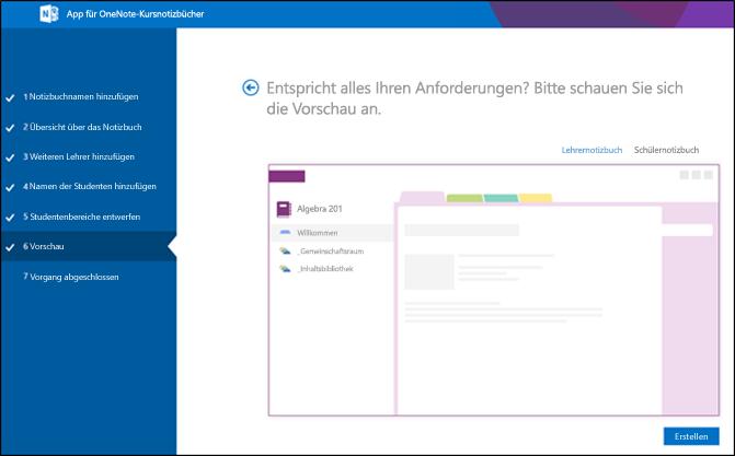 Screenshot des Vorschaubildschirms von Office 365