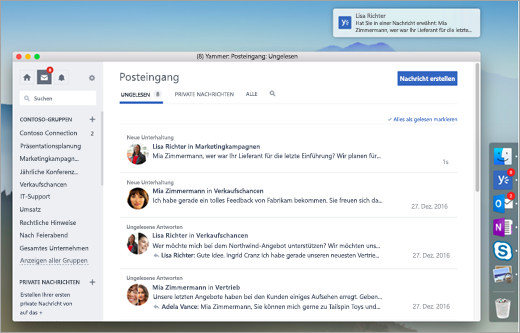 Screenshot der Desktop-App