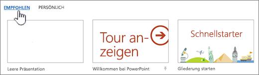 auswhlen von featurevorlagen - Gute Powerpoint Prsentation Beispiel
