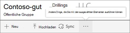 SharePoint-Onine-Menü ' Dokumentbibliothek '
