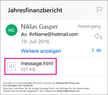 OME Viewer für Outlook für iOS 1