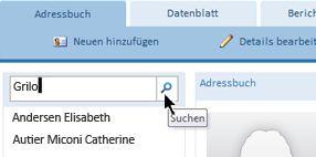 Suchtextfeld einer Webdatenbank