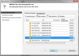 Dialogfeld 'Datenquelle auswählen'