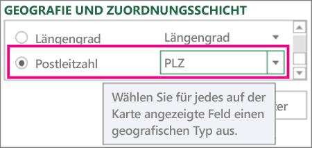 PLZ-Code wird Postleitzahl zugeordnet