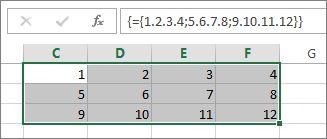 Eine zweidimensionale Matrixkonstante
