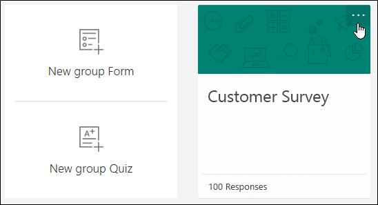 Weitere Optionen in einem Formular in Microsoft Forms