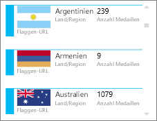 Karten mit Flaggenbildern in Power View