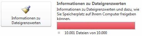SharePoint Workspace-Dokumentzähler bei Verwendung von 10.000 oder mehr Dokumenten