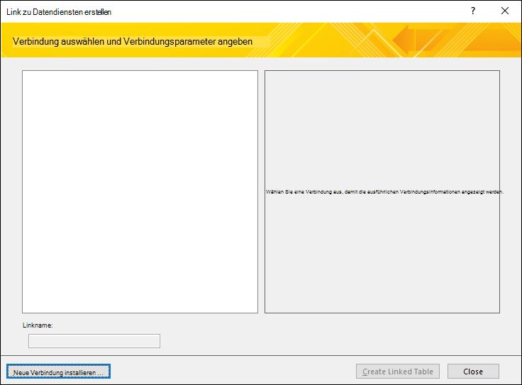 Installieren einer Webdienst-Datenverbindung