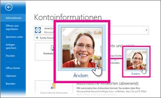 Ihr Bild in Office von Outlook aus ändern
