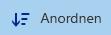 """Dokumentbibliothek – Schaltfläche """"Anordnen"""""""