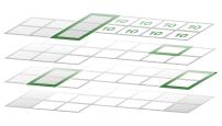Kalender werden gestapelt, um die Verfügbarkeit zu ermitteln