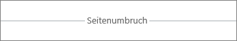 Seitenumbruch in Word Online