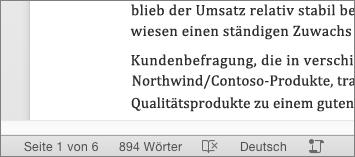 Anzeigen Der Wortanzahl Und Weiterer Informationen In Word Für Mac