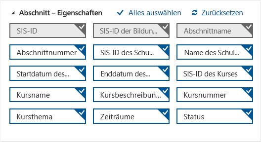 """Optionale und erforderliche Attribute für """"Section.csv"""""""