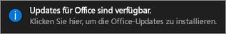 "Benachrichtigung ""Office-Updates verfügbar"""