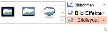 Zeigt die Schaltfläche Bildlayout auf der Registerkarte ' Format '