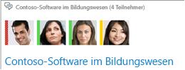 Screenshot des Mitgliederfotokatalogs im oberen Teil des Chatroomfensters