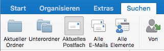 Aktuelles Postfach durchsuchen