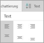 Windows Mobile: Ausrichtung von Tabellentext