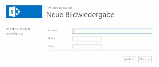 """Screenshot von """"Name der Bildwiedergabe"""""""