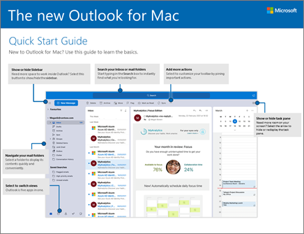 Outlook 2016 für Mac – Schnellstartleitfaden