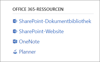 Office 365-Ressourcen