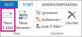 """Befehl """"Neue E-Mail"""""""