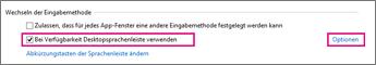 Office 2016 unter Windows 8 – Wechseln der Eingabemethode