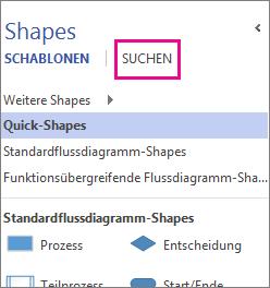 Suchen nach Shapes