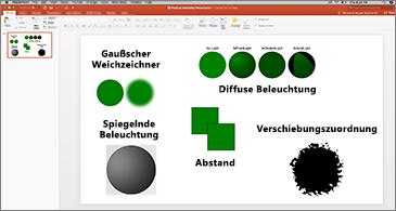 Folie mit Beispielen für SVG-Filter