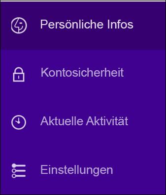 Ändern der Sicherheitseinstellungen Ihres Yahoo-Kontos