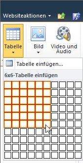 Hinzuf gen formatieren und l schen von tabellen auf einer for Tabelle 7 spalten